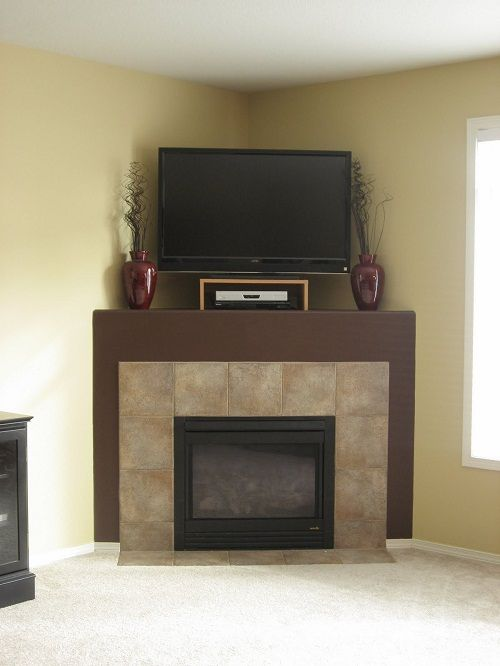 Corner Fireplace Tv Above