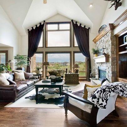 21 Best Curtains Uneven Windows Images On Pinterest Home