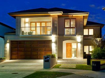 fachadas de casas pequeñas de dos pisos con balcon modernas
