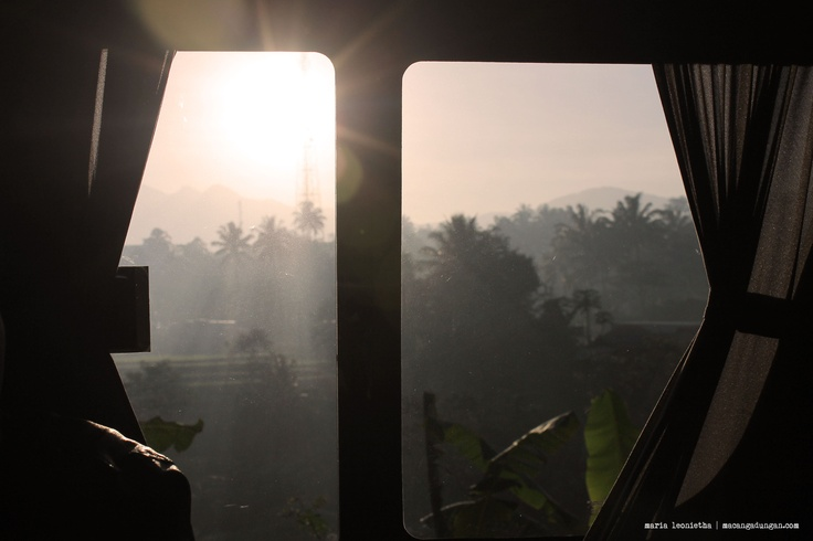 "The Sun said ""good morning"" and asked us to wake up. It took almost 20 hours to get to Yogya from Jakarta."