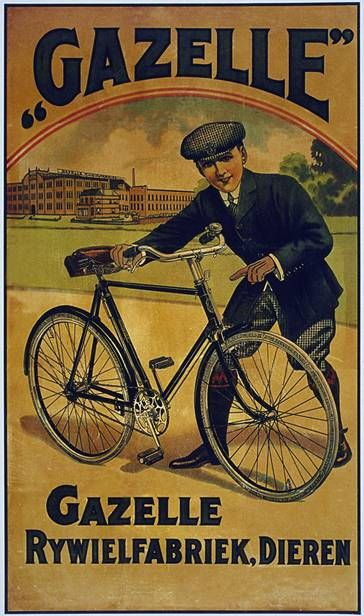 Gazelle | Bicycle vintage advert | cycling motivation, cycling posters, cycling…
