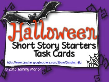 Halloween Short Story Task Cards - help your students create a Halloween short story with these creative task cards. ($)