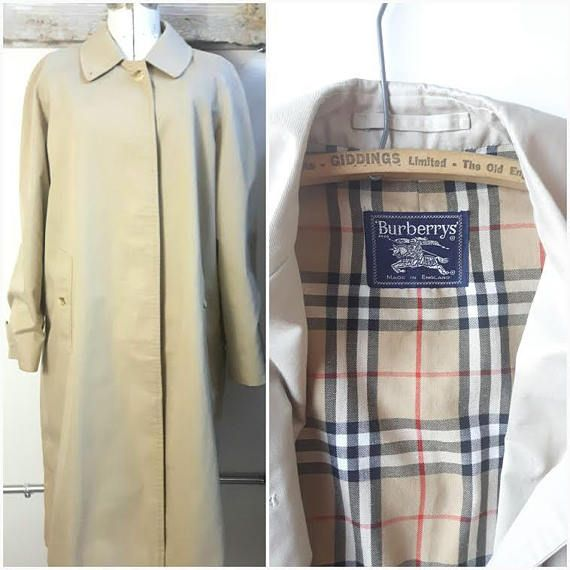 Vintage Burberry Trench Coat All Weather Coat Burberry Coat