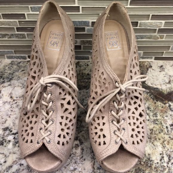 Cream Crochet pumps Cream suede crochet pumps, only worn once so there's very little wear. Looks and feels brand new. ✨NOT FP, listed for visibility only. Free People Shoes Heels