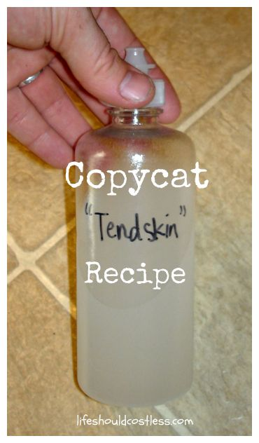 "Homemade ""Tendskin"" recipe (aftershave for men & women) 