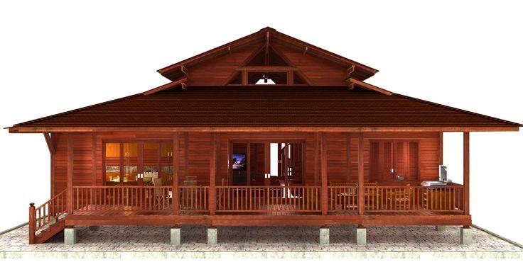 Kona Floor Plans: 3D Kona Hardwood Homes! living area – 1,905 ft2 (177 m2) lanai area – 420 ft2 (39 m2) house height – 22 ft (6.8 m) #homedesign #houseplan