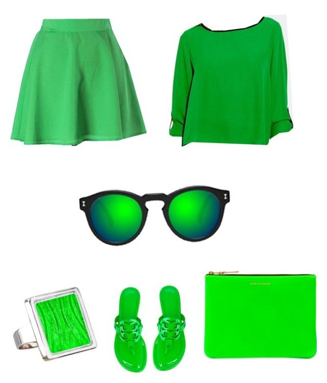 """grennie gvng"" by onesclanivis on Polyvore featuring Naven, Vince Camuto, Tory Burch, Comme des Garçons and Illesteva"