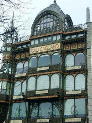 Old England Music School in Brussels, Belgium. A Scrapbook of Me: Art Nouveau vs. Art Deco