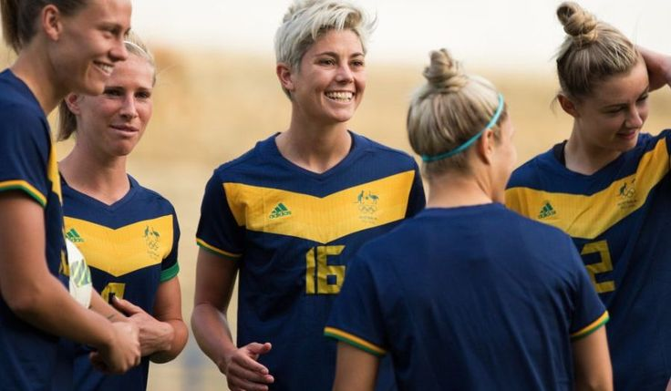 New look literally for the #Matildas at #Rio2016 as they swap to official AOC gear.