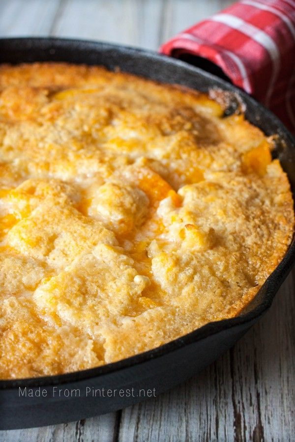Two Two Easy Peach Cobbler - This recipe calls for two of everything. So simple, you will want to make it again and again!