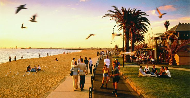 Summer on the St Kilda foreshore