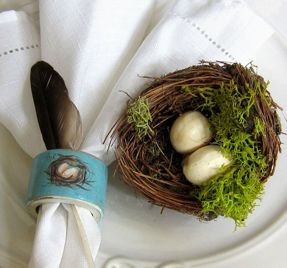 French Country Farmhouse Napkin Rings  Nest and by ShopOnALark, $16.00