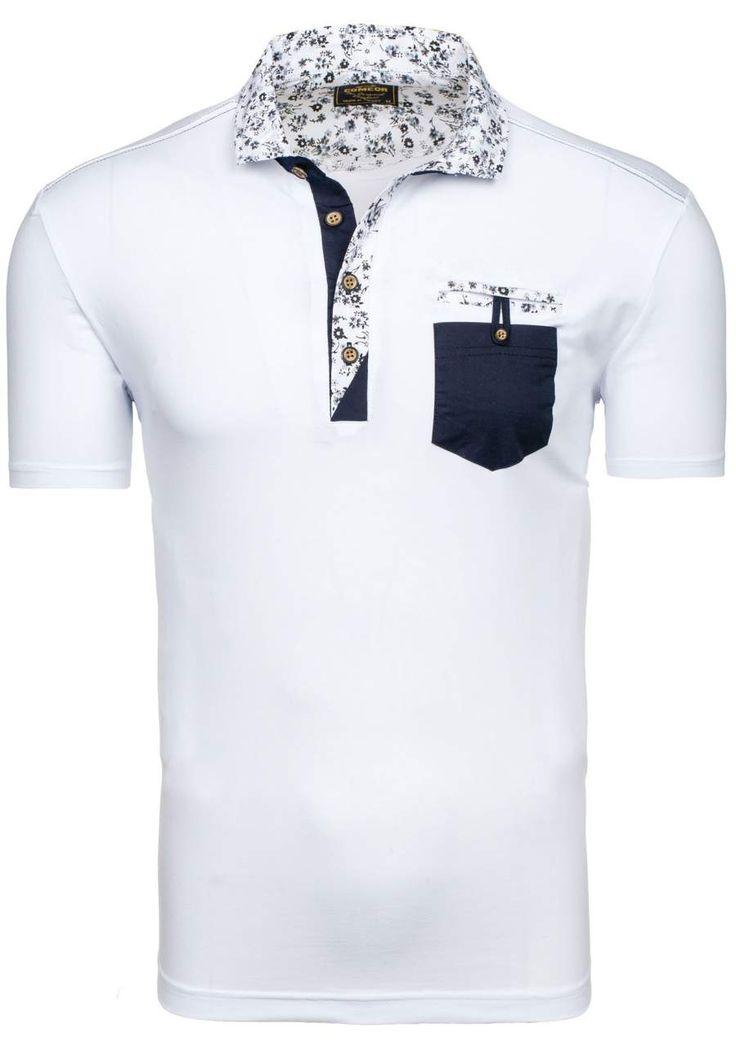 Pánská polokošile COMEOR 4341 bílá BÍLÁ   Pánská móda \ Pánské polokošile Przecena 15%   Bolf - Internetový Obchod s Oblečením   Oděv   Oblečení   Kabáty   Bundy