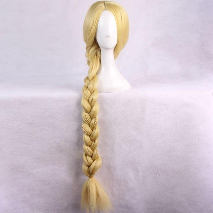 Рапунцель : запутанная история рапунцель женщин девушки золотой 120 см длинное парики японских аниме мультфильм хэллоуин косплей Cap сетку для волос