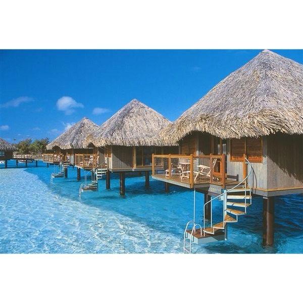 Beautiful Bora Bora Islands.
