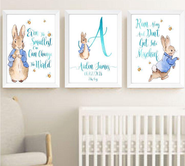 Kids wall print,Boys wall print,beatrix potter Peter Rabbit Nursery wall print