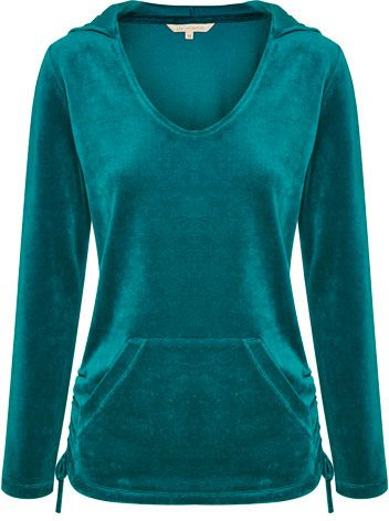 Liz Collection Hooded Velour Jumper $129.95 AUD  Hooded velour jumper with open pocket, ruched sides with tie 80% Cotton 20% Polyester  Item Code: 046747