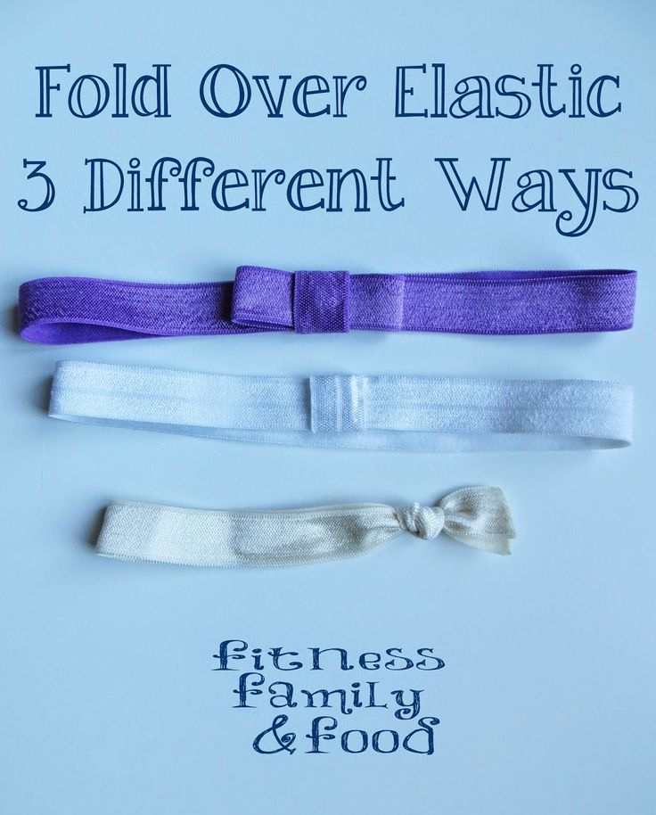 Fold Over Elastic 3 Different Ways Hair Bows Diy Hair