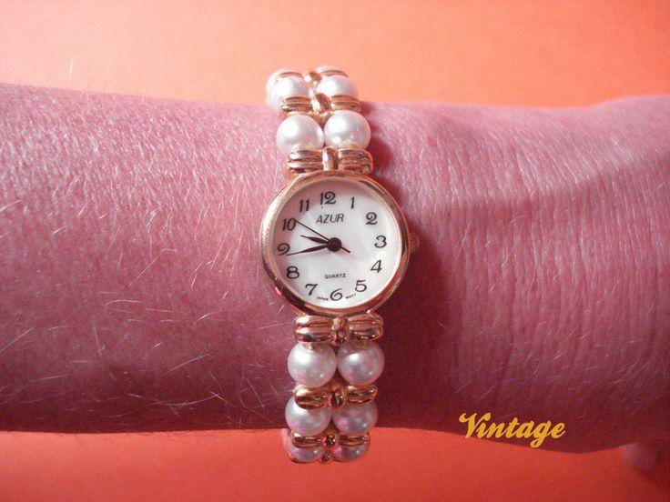 "VTG Bracciale orologio ""AZUR"" di Nina Vintage su DaWanda.com"