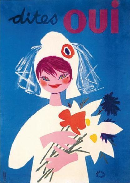 """Marianne, """"Say Yes"""", French Constitutional Referendum, 1958"""