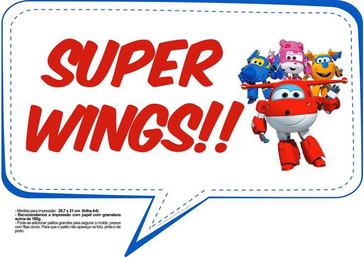 Plaquinhas Divertidas Super Wings 8