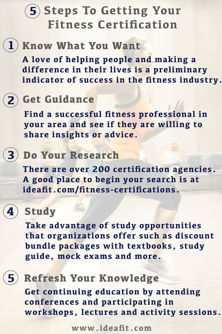 5 Steps To Getting Your Fitness Certification