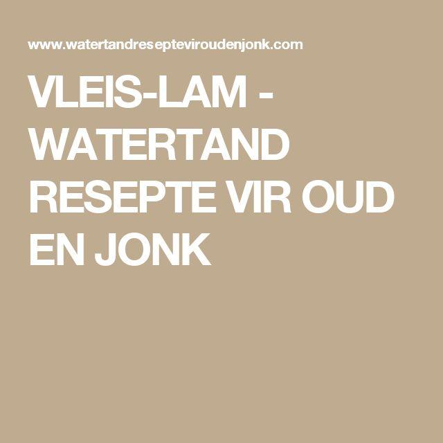 VLEIS-LAM - WATERTAND RESEPTE VIR OUD EN JONK