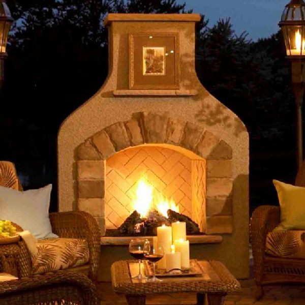 Sonoma Gas Fireplace Surround - : The Sonoma Outdoor Gas Fireplace  available at Living Outfitters. This outdoor fireplace is the perfect  centerpiece for ... - 17 Best Images About Outdoor Fireplaces On Pinterest Fireplaces