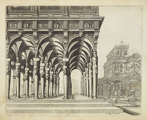 "Johannes Vredeman de Vries (ca.1527-1604, ""The King of Architects"" among the Dutch, at least),Perspective of 1604"