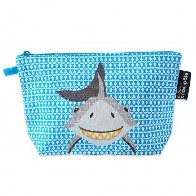 Trousse coton bio by Mibo pour Coq en Pâte Pencil case with shark designed by Mibo for Coq en Pate #pencilcase #trousse #saveourspecies #sos #mibo #shark #requin