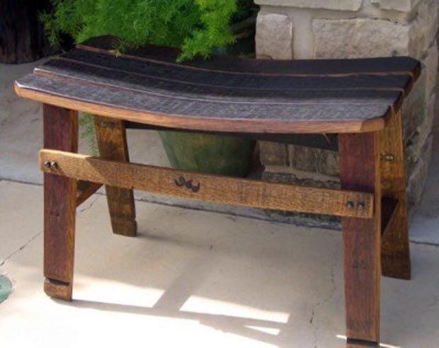 39 wine barrel ideas creative diy ideas for reusing old for Wine barrel chair diy