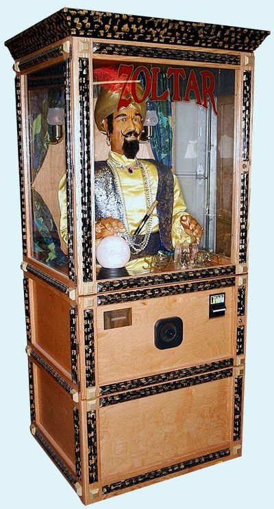 Zoltar is waiting to tell your fortune (for a quarter) in the middle of Hammacher Schlemmer on 147 E. 57th Street.