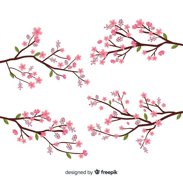 Download Hand Drawn Cherry Blossom Branch For Free Cherry Blossom Branch Cherry Blossom Drawing How To Draw Hands