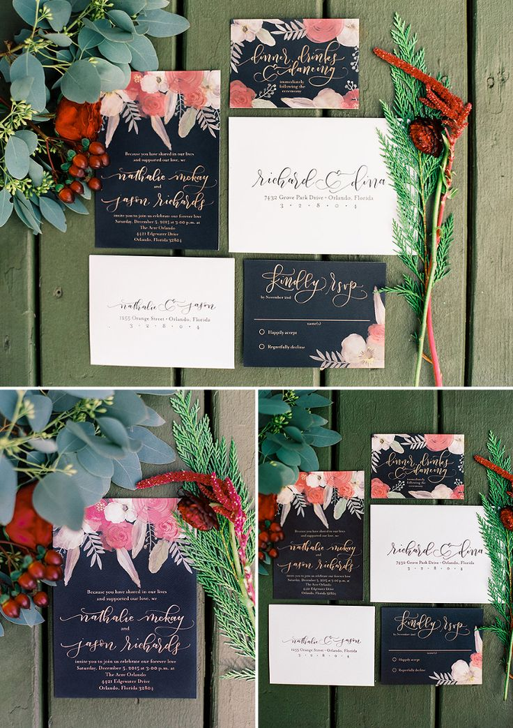 bed bath and beyond wedding invitation kits%0A Custom Wedding Invitation Design by Feathered Heart Prints  Calligraphy  and Lettering by Amanda Arneill