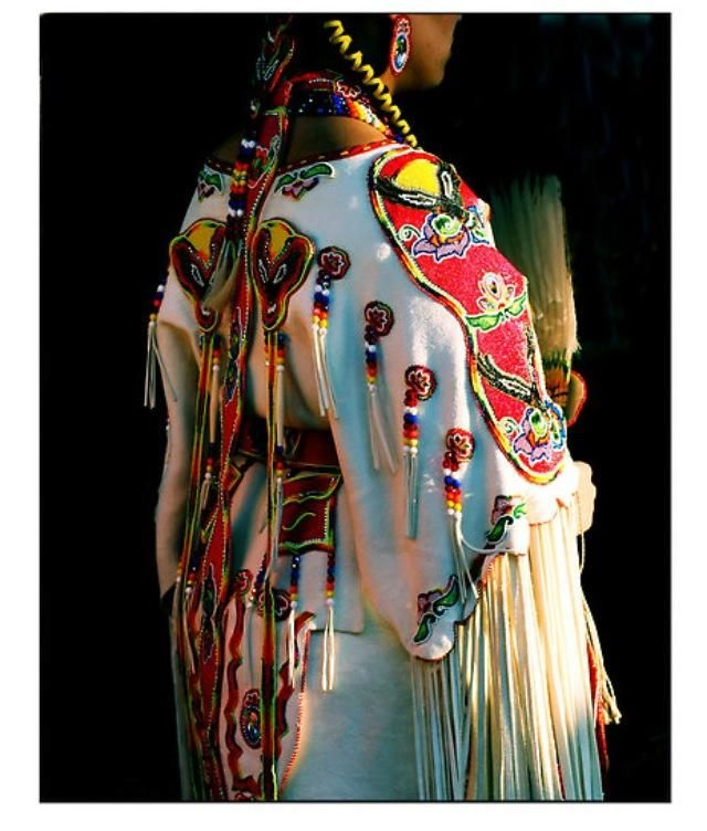 Danita Goodwill- Osage; she always has the keenest beadwork & dresses!
