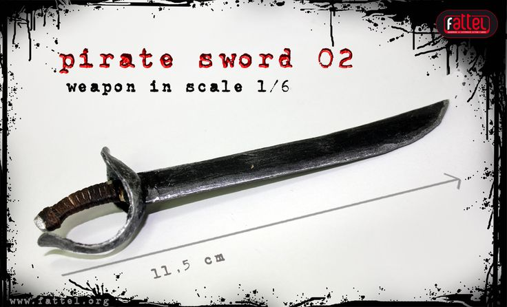 onesixthscale action figure pirate sword