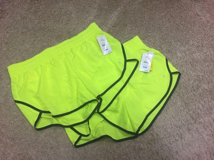 Danskin Now Juniors Shorts Large 12 14 Active Athletic Performance Neon Yellow #DanskinNow #Shorts