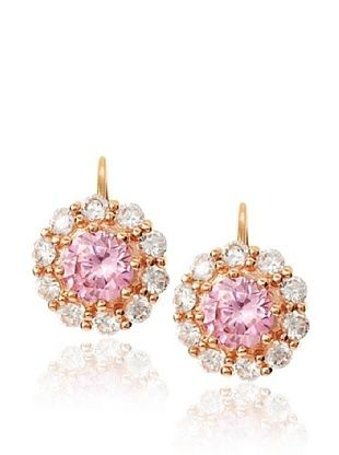 CZ by Kenneth Jay Lane Brilliant Floral Design Earrings