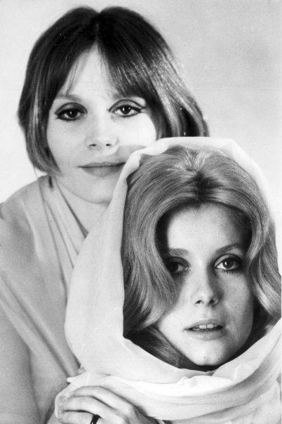 Françoise Dorléac and Catherine Deneuve