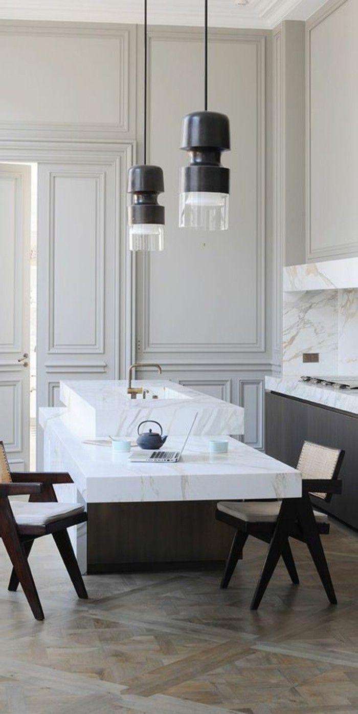 Modern Kitchen Design  : Arbeitsplatte Marmor waschbecken