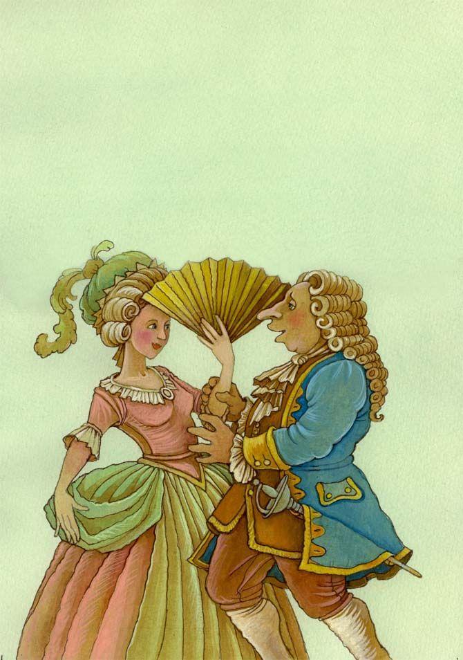 "Olga Monina illustration for ""The Marriage of Figaro""."