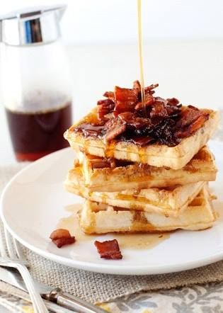 Waffles for breakfast anyone? What a way to start the day and warm you up, don't you agree?