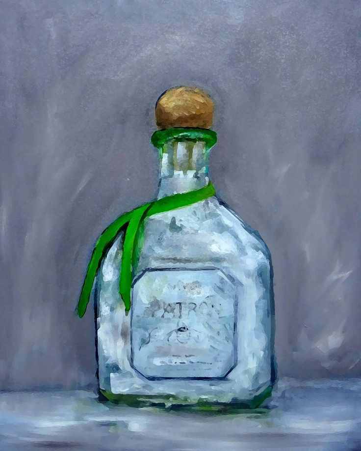 "Patron Silver Tequila Fine Art Print 11 x 14"" matted, signed. Patron Tequila Bottle Fine Art Print made by me from my original oil painting, ""Patron"". 11 x 14"" archival ink on heavy art paper,matted to 16 x 20"". Ships same business day. Free upgrade to USPS Priority shipping (select standard shipping). Thank you for visiting!."