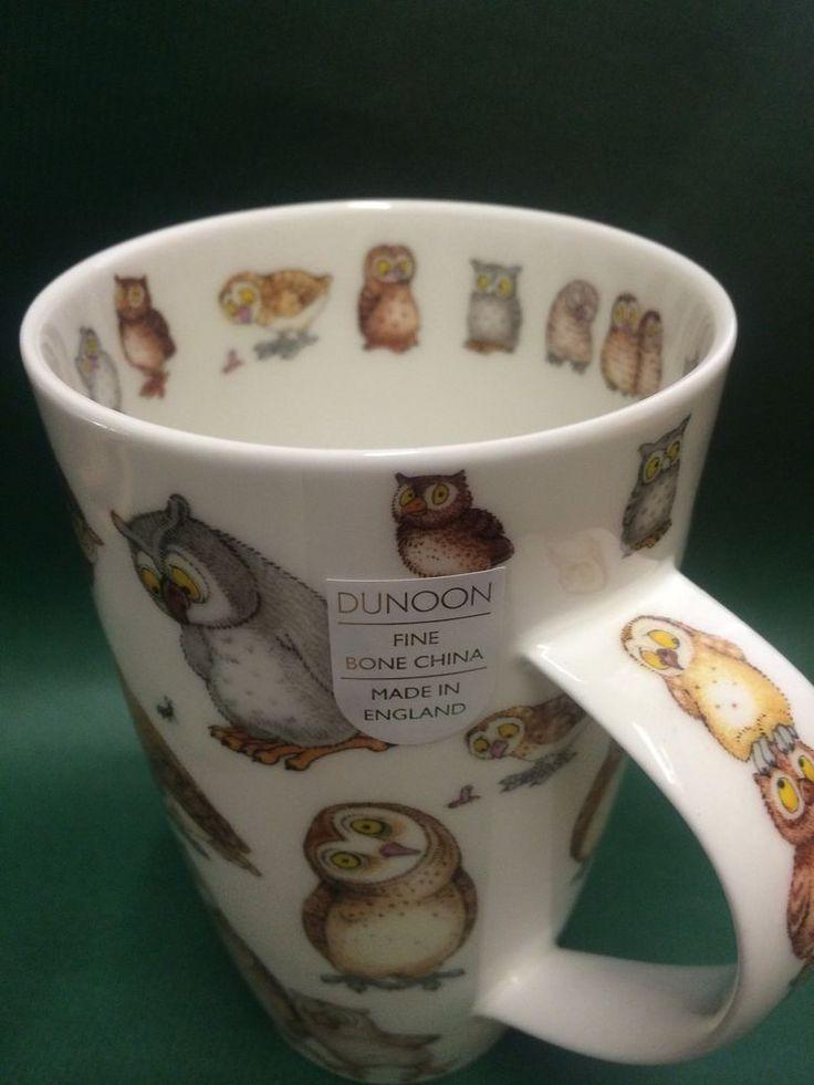 Dunoon becher tasse eule owl eulen henley neu kaffeetasse
