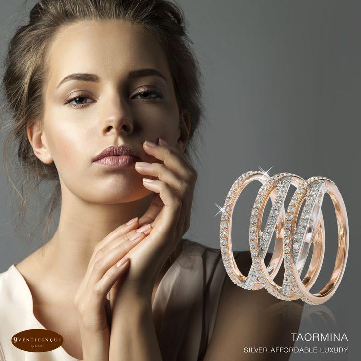 #Bibigì - Colelzione #Taormina I cerchi concentrici e la luminosità delle pietre rendono la collezione Taormina quasi ipnotica, l'armonia che si crea tra i due materiali trasforma questo gioiello in un bijoux di lusso.