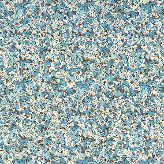 Traditional Florentine Print Paper in Blue Tones ~ Carta Fiorentina Italy