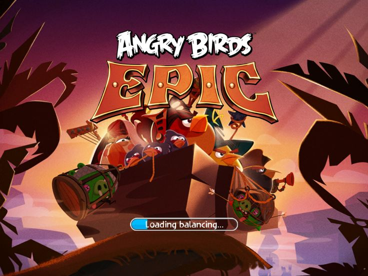 Angry Birds Epic by Rovio and Chimera - Splash Screen - UI Interface Art Game Art HUD iOS Apps GUI