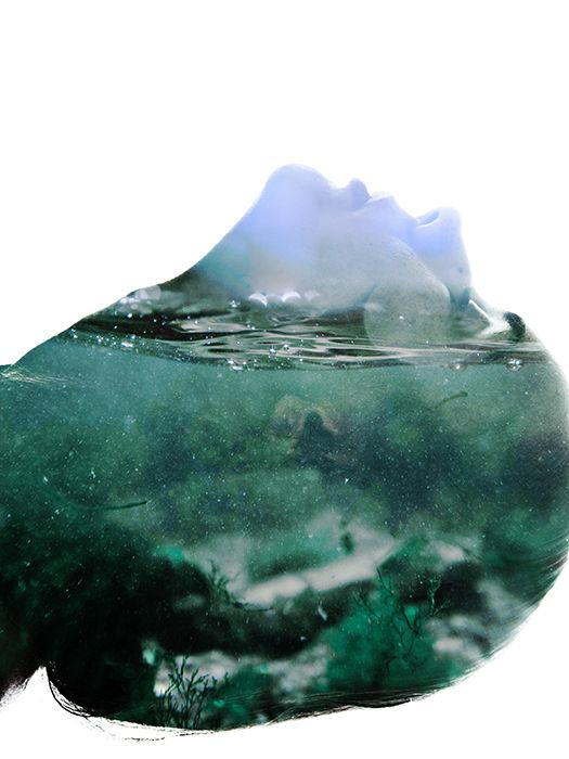 Under the waves by Aneta Ivanova, via Behance