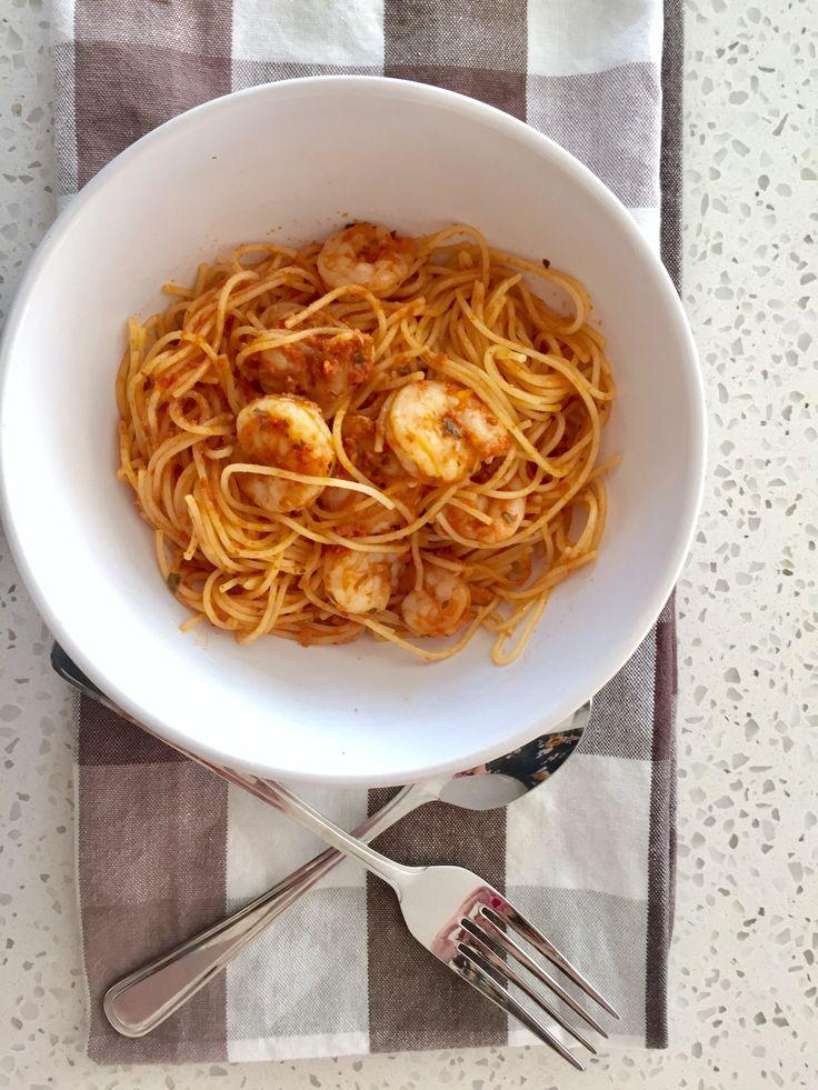 Shrimp Pesto Pasta