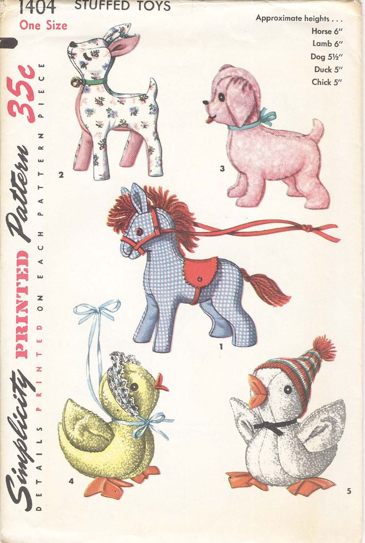 58 besten vintage patterns for soft toys Bilder auf Pinterest ...
